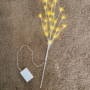 Hobby Lobby Accents - White Lighted Decorative Branches